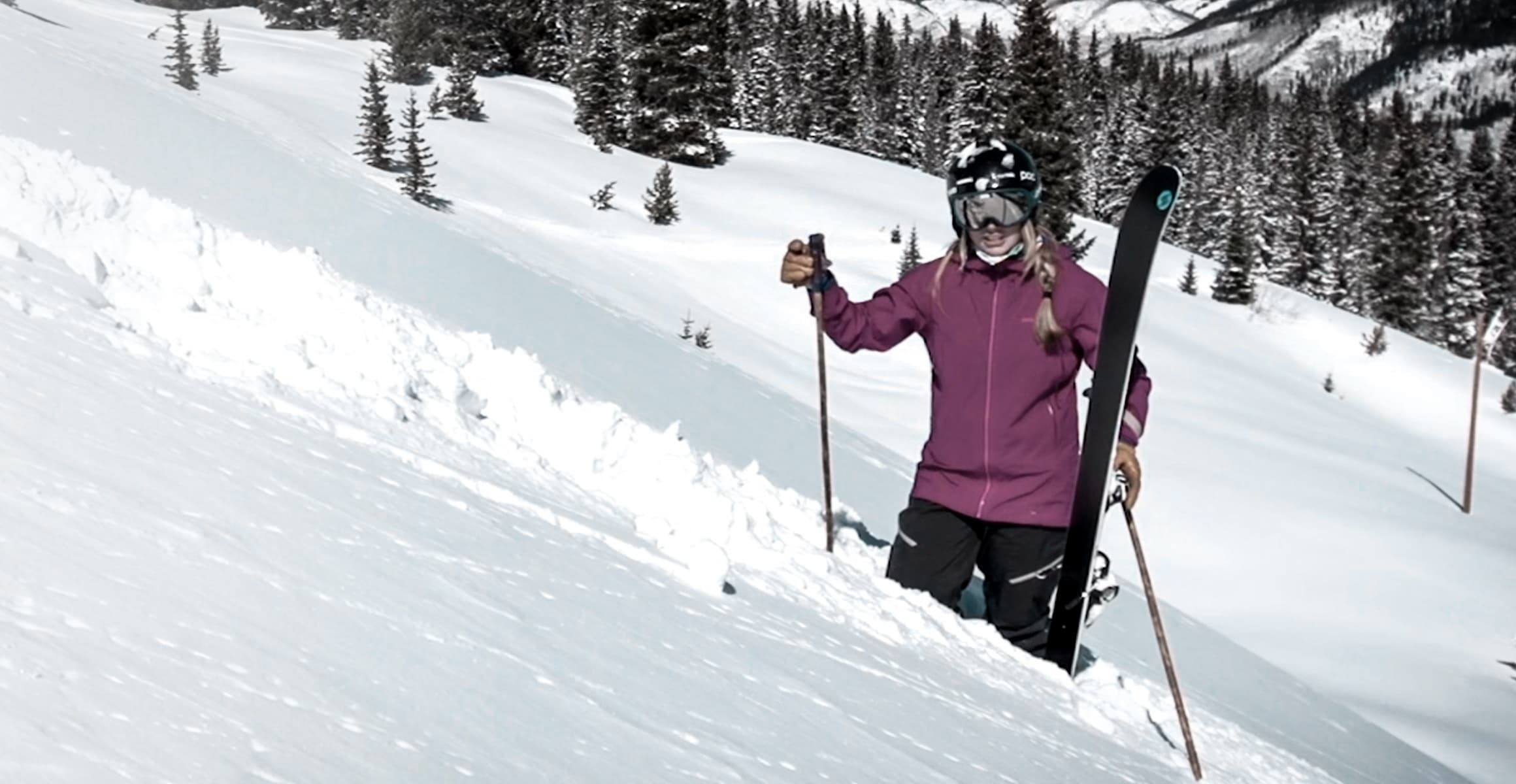 FINDING A LOST SKI IN DEEP SNOW